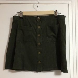 Forever 21 velvet mini skirt